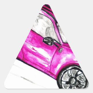 Adesivo Triangular Carro desportivo Sketch2