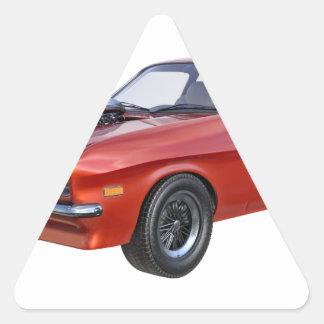 Adesivo Triangular carro vermelho do músculo dos anos 70