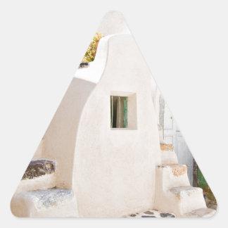 Adesivo Triangular Casa em Santorini