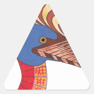 Adesivo Triangular Cassowary