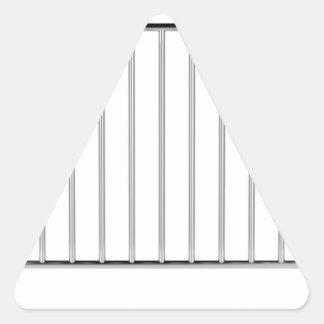Adesivo Triangular Cerca do controle de multidão