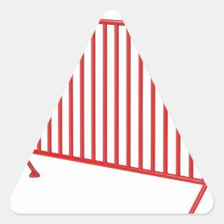 Adesivo Triangular Cerca móvel vermelha