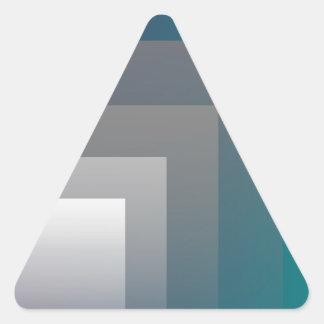 Adesivo Triangular cerceta cinzenta roxa