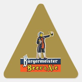 Adesivo Triangular Cerveja & cerveja inglesa de Burgermeister