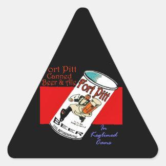 Adesivo Triangular Cerveja de Pitt do forte
