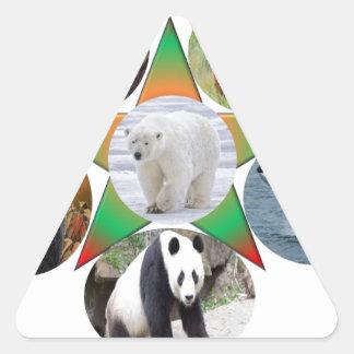 Adesivo Triangular cerveja, urso, animais selvagens, animal, zool