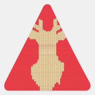 Adesivo Triangular Cervos feitos malha