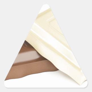 Adesivo Triangular Chocolate branco e marrom