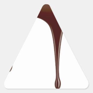 Adesivo Triangular Chocolate derretido