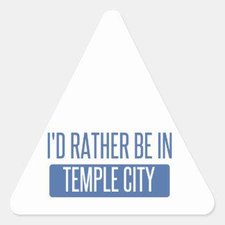 Adesivo Triangular Cidade do templo