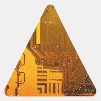 Adesivo Triangular circuito eletrônico amarelo board.JPG