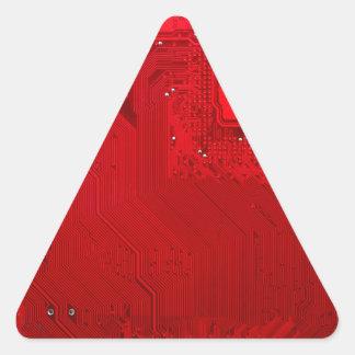 Adesivo Triangular circuito eletrônico vermelho board.JPG