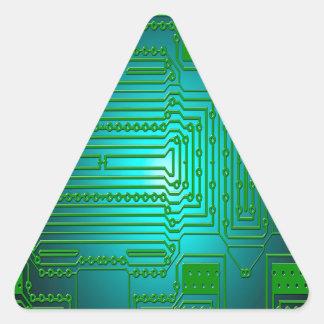Adesivo Triangular circuitos dos condutores do conselho
