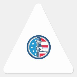 Adesivo Triangular Círculo ereto R da bandeira dos EUA da chave de
