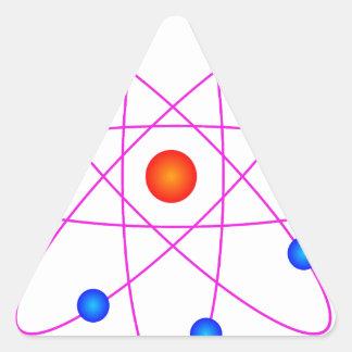 Adesivo Triangular clipart modelo do vetor do átomo
