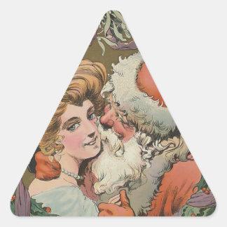 Adesivo Triangular Cobrir 1905 do disco do papai noel