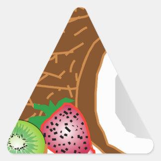 Adesivo Triangular Cocos tropicais do quivi