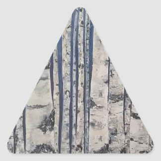 Adesivo Triangular Código Morse das árvores de vidoeiro