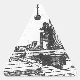 Adesivo Triangular Coisas efêmeras antigas do vintage da ferramenta