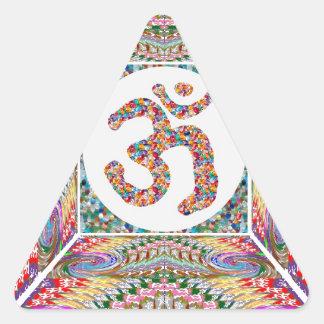 Adesivo Triangular Coleção da jóia da mantra do OM