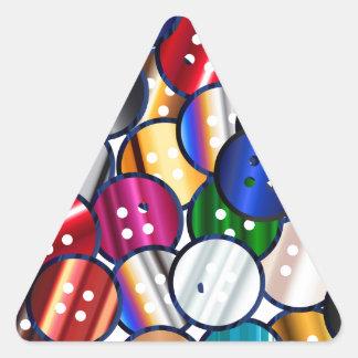 Adesivo Triangular Coleção do botão da cor