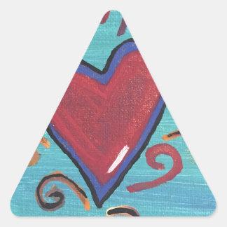 Adesivo Triangular Coleção vermelha dos corações