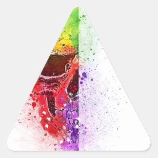 Adesivo Triangular Colorful Skull - Caveira Colorida