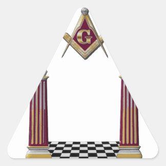 Adesivo Triangular Colunas maçónicas