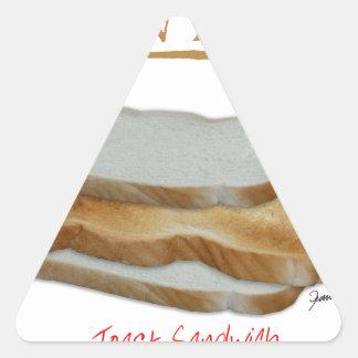 Adesivo Triangular Comida do homem de Tony Fernandes - sanduíche do