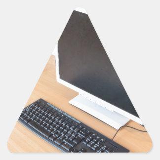 Adesivo Triangular Computador de secretária na classe do computador