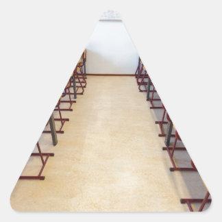 Adesivo Triangular Computadores na sala de aula da educação holandesa