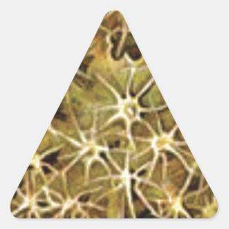 Adesivo Triangular conexões do cérebro visualizadas