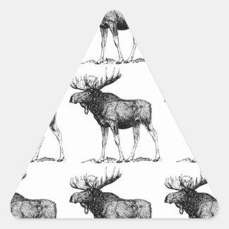 Adesivo Triangular confusão dos alces