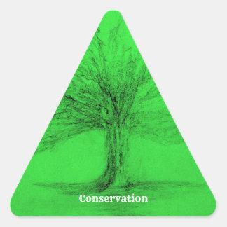 Adesivo Triangular Conservação