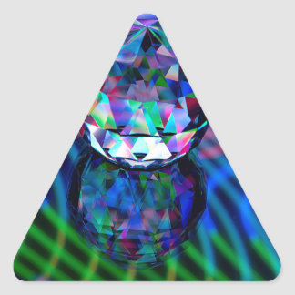 Adesivo Triangular Cor das facetas no vidro