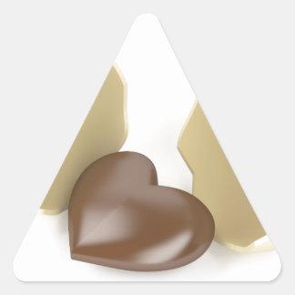 Adesivo Triangular Coração do chocolate