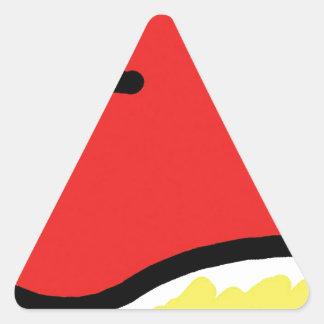 Adesivo Triangular coração feliz vermelho