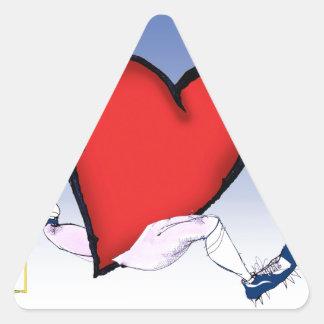 Adesivo Triangular coração principal de North Dakota, fernandes tony