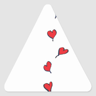 Adesivo Triangular corações 1 por fernandes tony