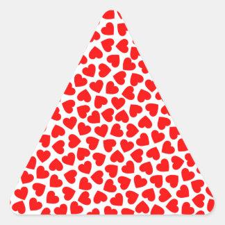 Adesivo Triangular Corações do coração
