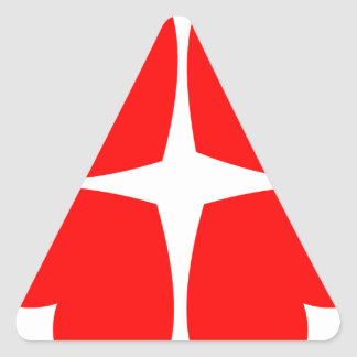 Adesivo Triangular Corações vermelhos