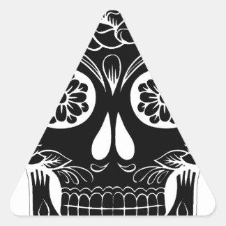 Adesivo Triangular Crânio abstrato