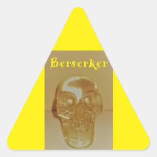 Adesivo Triangular Crânio de Berserker