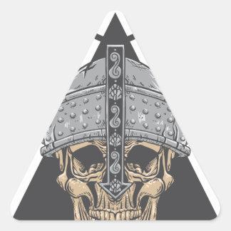 Adesivo Triangular Crânio de Viking