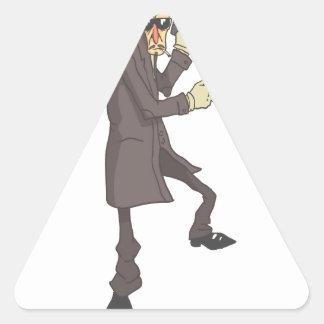 Adesivo Triangular Criminoso perigoso do assassino profissional
