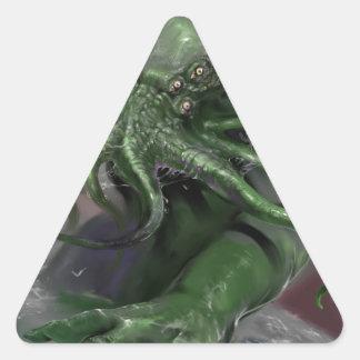 Adesivo Triangular Cthulhu cavalo-força de aumentação Lovecraft