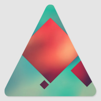 Adesivo Triangular Cubado no surrealismo