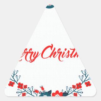 Adesivo Triangular cumprimento do Natal do Feliz Natal