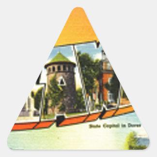 Adesivo Triangular Cumprimentos de Delaware
