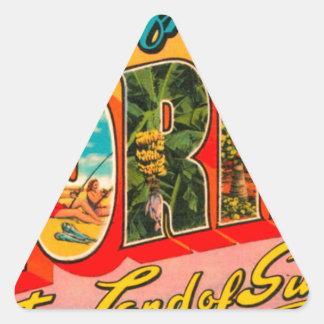 Adesivo Triangular Cumprimentos de Florida